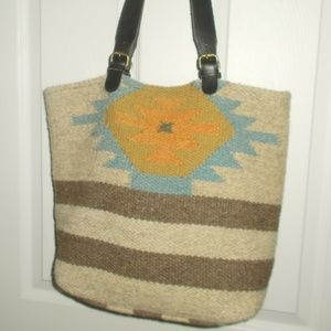 RAJ WOOLEN TRIBAL TOTE/SHOULDER BAG